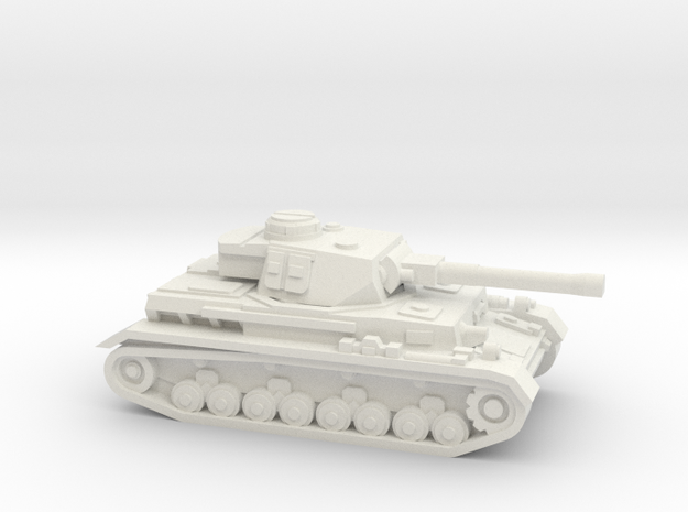 Panzer IV ausf H 1/144, W/O skirts in White Natural Versatile Plastic