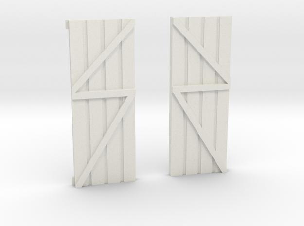 Dolgoch Cab Doors in White Natural Versatile Plastic