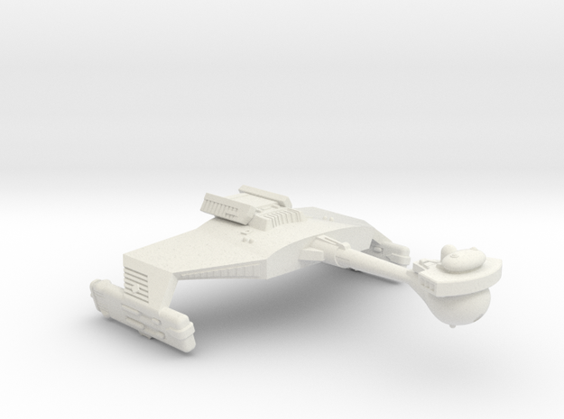 3788 Scale Klingon D5B War Cruiser WEM in White Natural Versatile Plastic