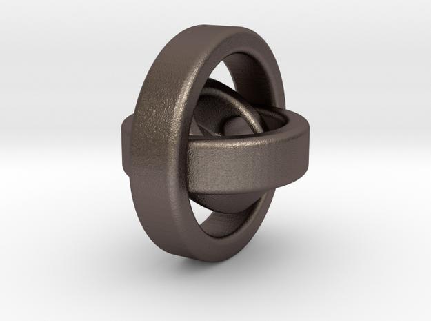 gyroscope inspired begleri in Polished Bronzed Silver Steel