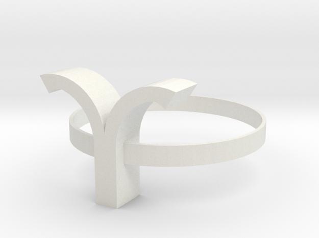 Aries bracelet in White Natural Versatile Plastic