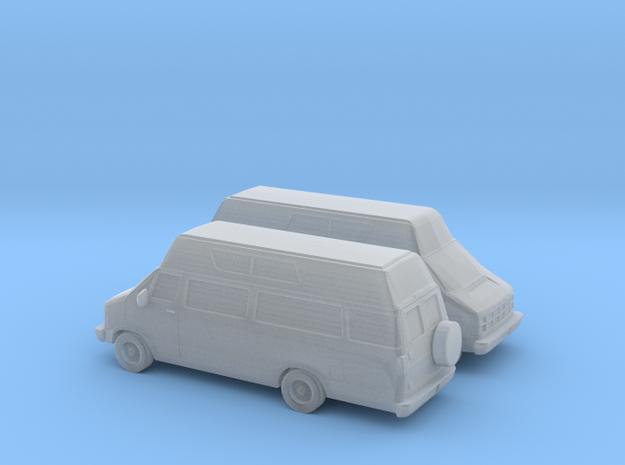 1/160 2X 1986-93 Dodge Ram Custom Van/RV in Smooth Fine Detail Plastic
