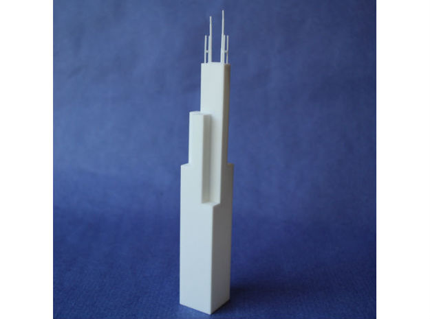 Willis Tower in White Natural Versatile Plastic