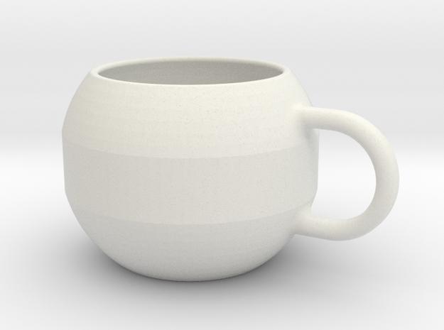 big circle mug in White Natural Versatile Plastic