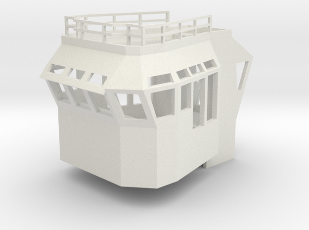Basic Bridge 1/87 fits Harbor Tug in White Natural Versatile Plastic