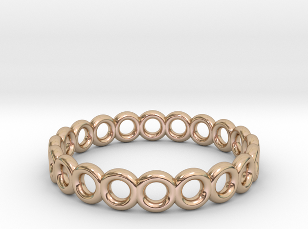 Donut ring in 14k Rose Gold Plated Brass