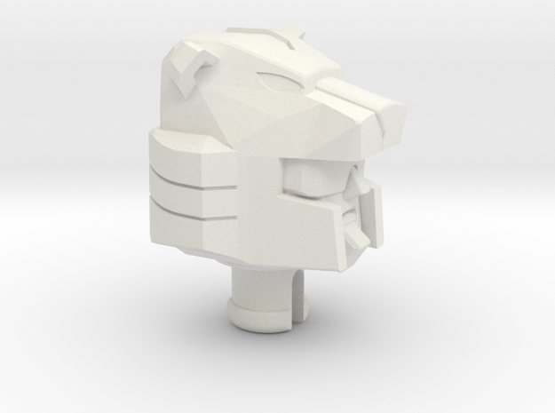 Panther head for Blackjack in White Natural Versatile Plastic