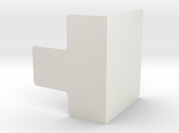 bookshelf.stl in White Natural Versatile Plastic