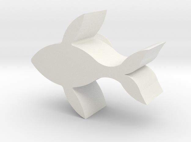 WhaleCandlestick  in White Natural Versatile Plastic