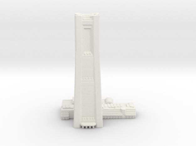Yokohama Landmark Tower (1:4000) in White Natural Versatile Plastic