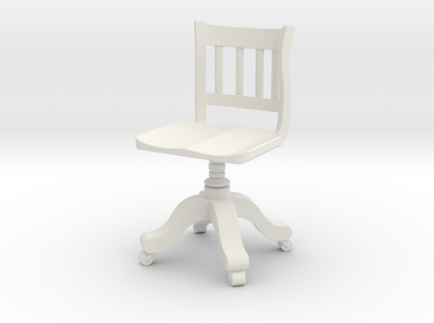 Period Office Chair  in White Natural Versatile Plastic