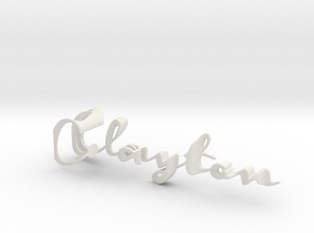 3dWordFlip: Clayton/Jenn in White Natural Versatile Plastic
