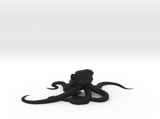 Reef Octopus in Black Natural Versatile Plastic