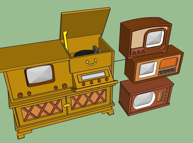1949 TV's in Smooth Fine Detail Plastic