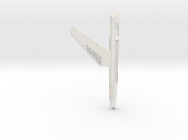 Star Trek 1400 Scale Phase 2 Nacelle Left in White Natural Versatile Plastic