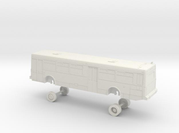 HO Scale Bus NABI 416 Muni (MIRRORED) in White Natural Versatile Plastic
