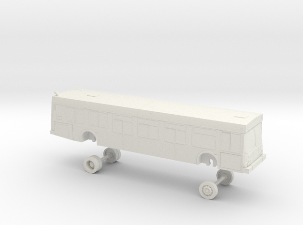 HO Scale Bus New Flyer D40LF NCTD (MIRRORED) in White Natural Versatile Plastic