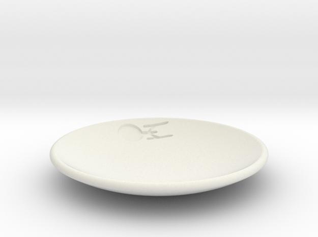 Enterprise Dish in White Natural Versatile Plastic