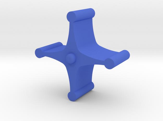 Flow Indicator - Impeller- Part 3 of 3 in Blue Processed Versatile Plastic
