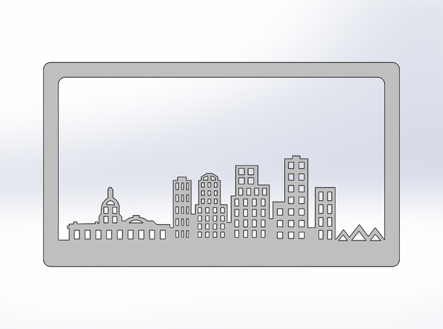 Edmonton Skyline Bookend in White Natural Versatile Plastic