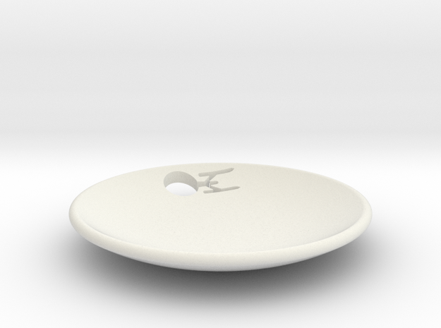 Enterprise Dish Full Cut Out in White Natural Versatile Plastic
