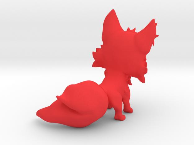 Chibi Fox in Red Processed Versatile Plastic: Small