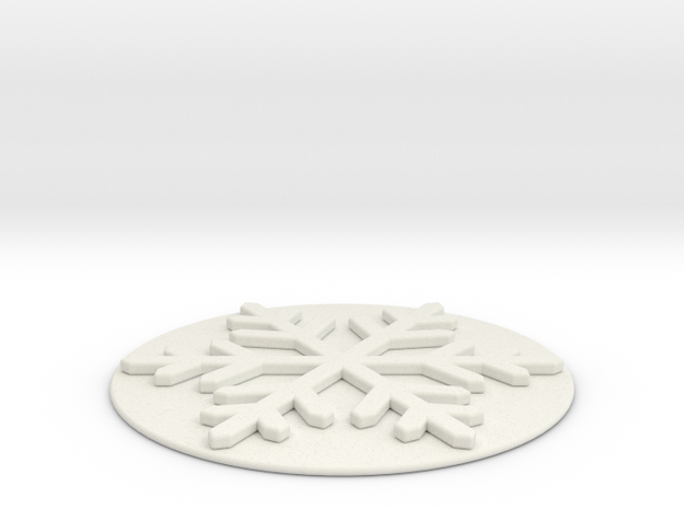 Snow water coasters in White Natural Versatile Plastic