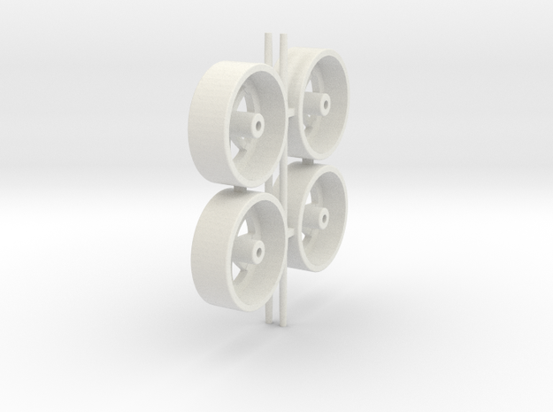 Wheels 8-spoke in White Natural Versatile Plastic