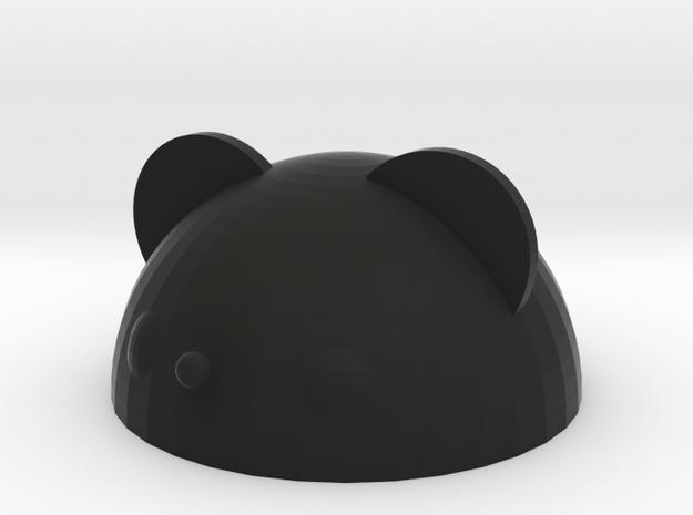 bear paperweight in Black Natural Versatile Plastic