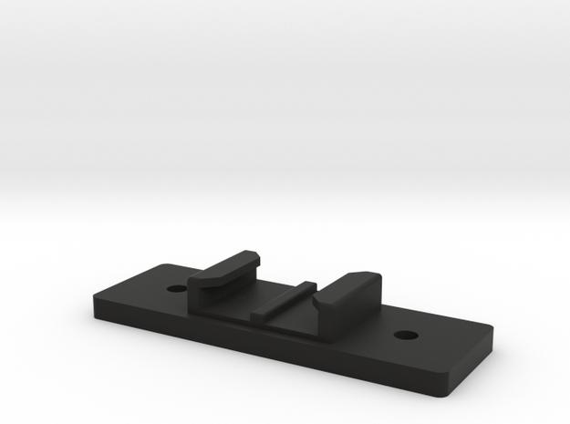 Flat GoPro Mount in Black Natural Versatile Plastic