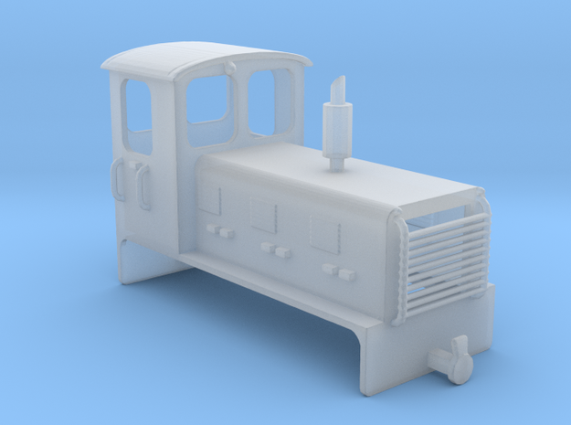 Welsh Highland Rly diesel shunter loco NO.9 in Smooth Fine Detail Plastic