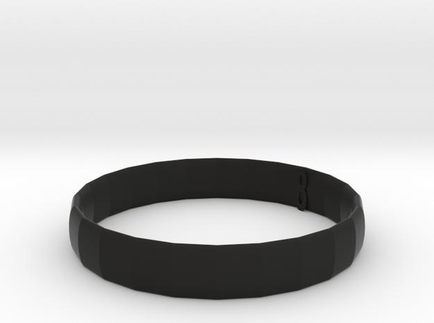106102226 紀念手環 in Black Strong & Flexible: Small