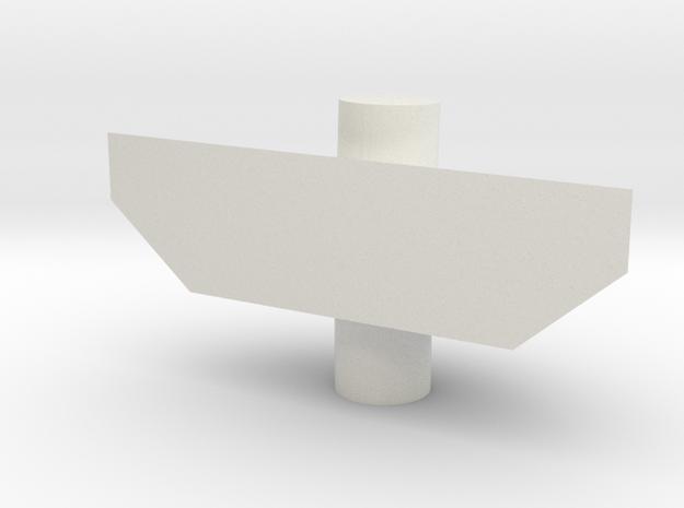 Legendary Voltron Arm Small Shield Adaptor in White Natural Versatile Plastic
