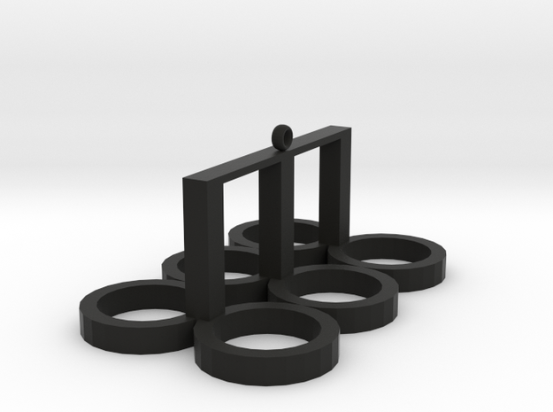cup rack in Black Natural Versatile Plastic