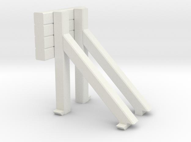Bumper - Vintage HO 87:1 Scale in White Natural Versatile Plastic