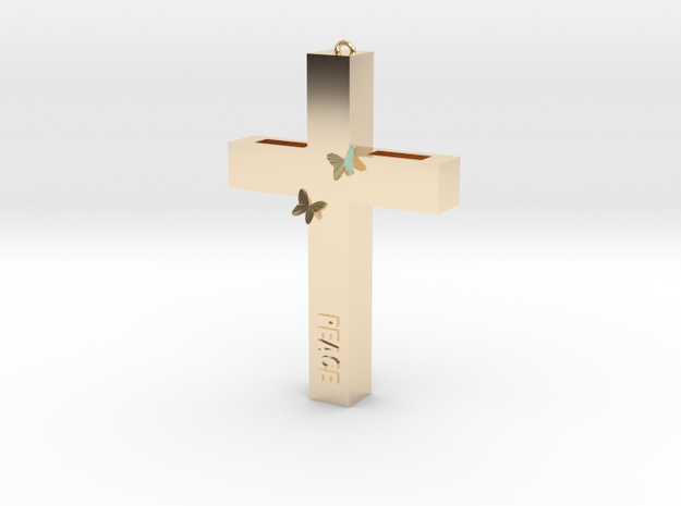PEACE in 14K Yellow Gold