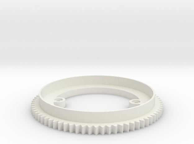 Turret Ring v0.2 in White Natural Versatile Plastic