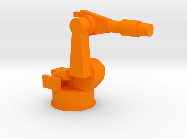 4-Axis Industrial Robot V02 in Orange Processed Versatile Plastic