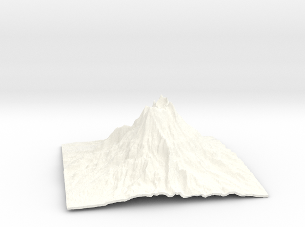 Mountain 1 in White Processed Versatile Plastic: Small