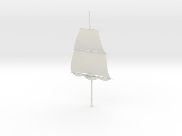 1/300 Frigate Mainmast V2 in White Natural Versatile Plastic
