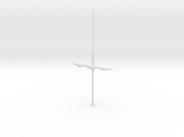 1/300 Frigate Bowsprit in White Natural Versatile Plastic