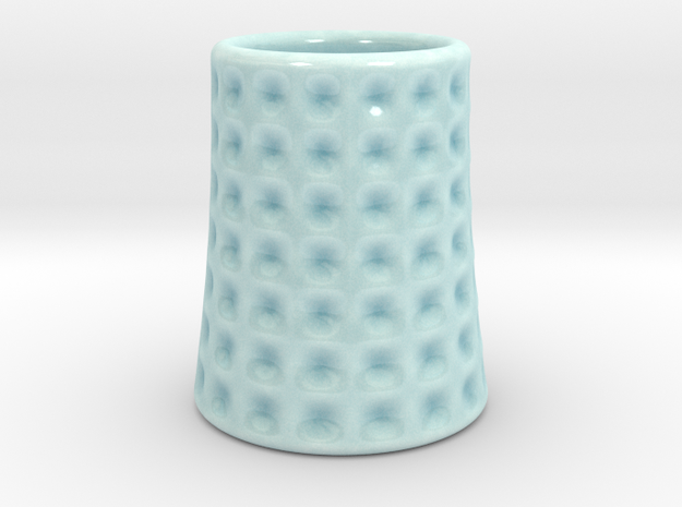 DRAW shot glass - the Lasalle in Gloss Celadon Green Porcelain