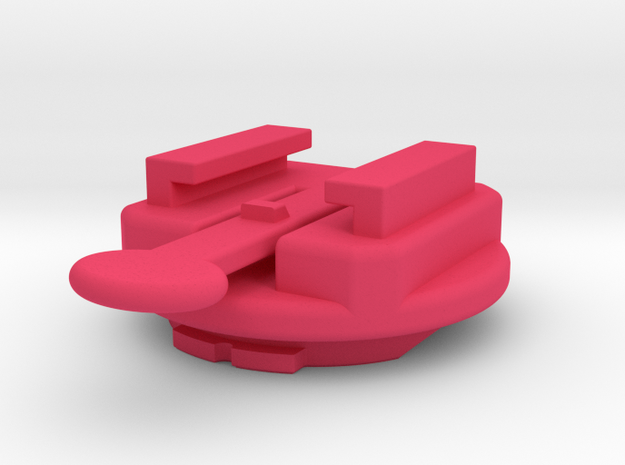 Edge 205/305, 605/705 To Quarter-turn Adapter in Pink Processed Versatile Plastic