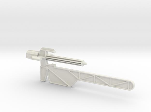Captain Action -Silver Streak Launcher Arm V2 in White Natural Versatile Plastic
