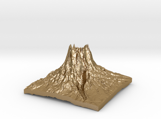 Mountain 3 in Polished Gold Steel: Small