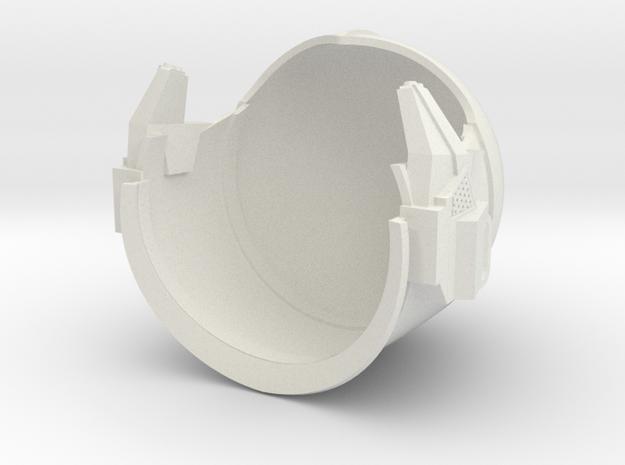 1/6 Sci-Fi Century helmet one piece with cheek in White Natural Versatile Plastic