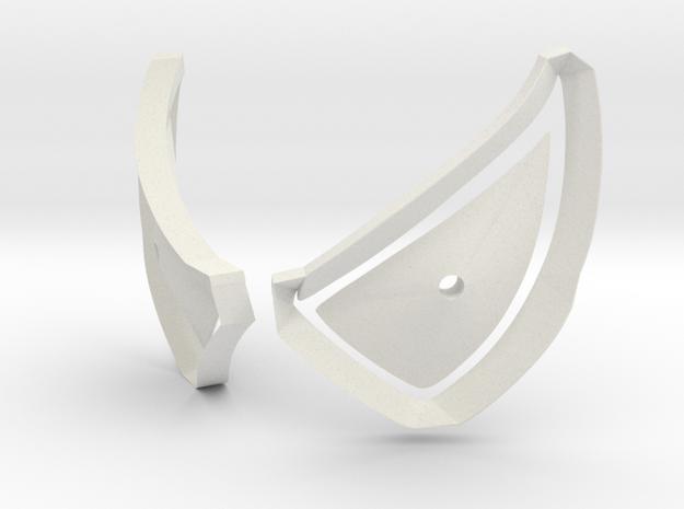 Raimi Eye Molds for Painting Front of Eye Frames in White Natural Versatile Plastic