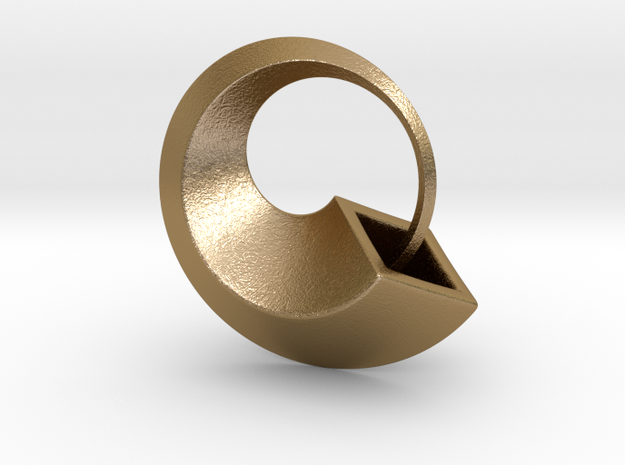 Ouroboros pendant in Polished Gold Steel