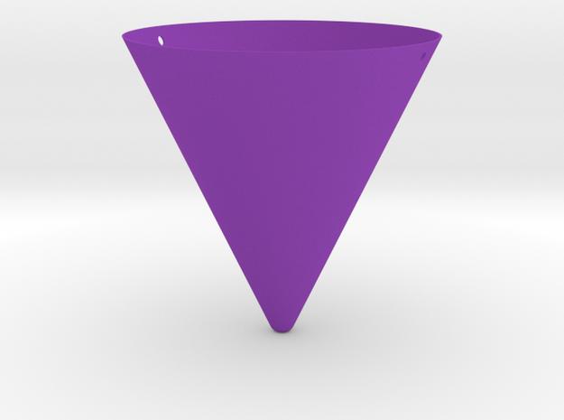 Hanging Cone Planter in Purple Processed Versatile Plastic