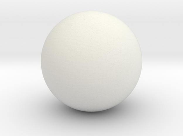 Ball Head for ModiBot in White Natural Versatile Plastic